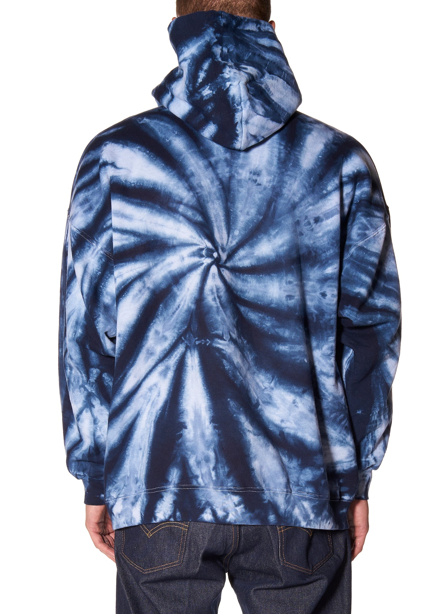 LIBERTINE LOGO TIE DYE HOODED SWEATSHIRT - Men's Tops - Libertine