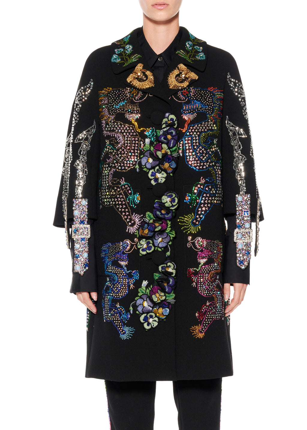 """MAGICAL MING DRAGON"" COLLAGE PATCH POCKET COAT - Women's Jackets & Coats - Libertine"