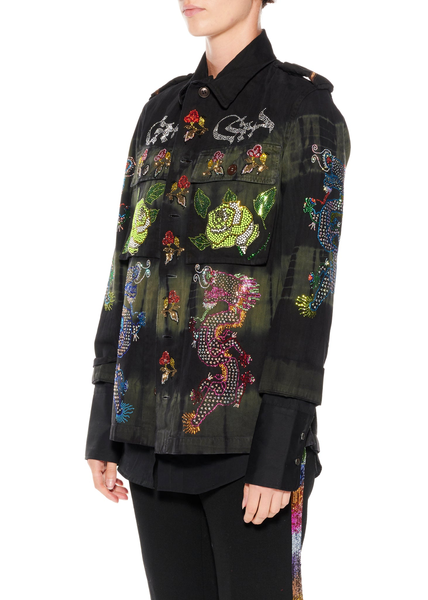 """MAGICAL MING DRAGON"" VINTAGE FRENCH MILITARY JACKET - Women's Jackets & Coats - Libertine"