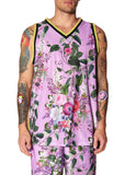 """HAMISH FLORAL"" MESH BASKETBALL JERSEY - Men's Tops - Libertine"