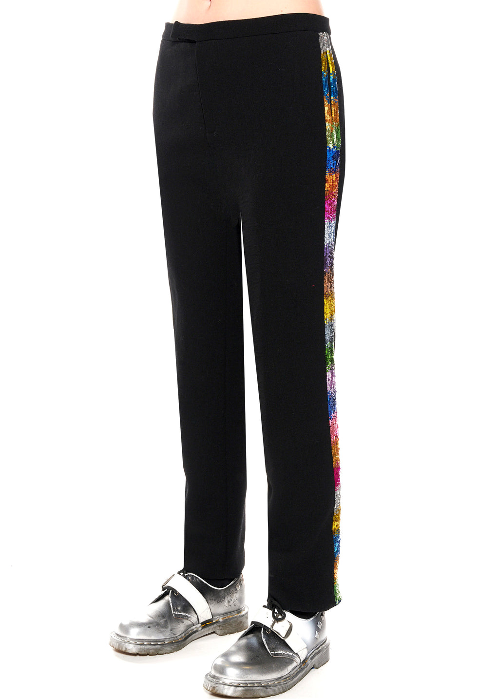''ELECTRIC DREAMS'' PAILLETTE NARROW PANTS - Women's Bottoms - Libertine