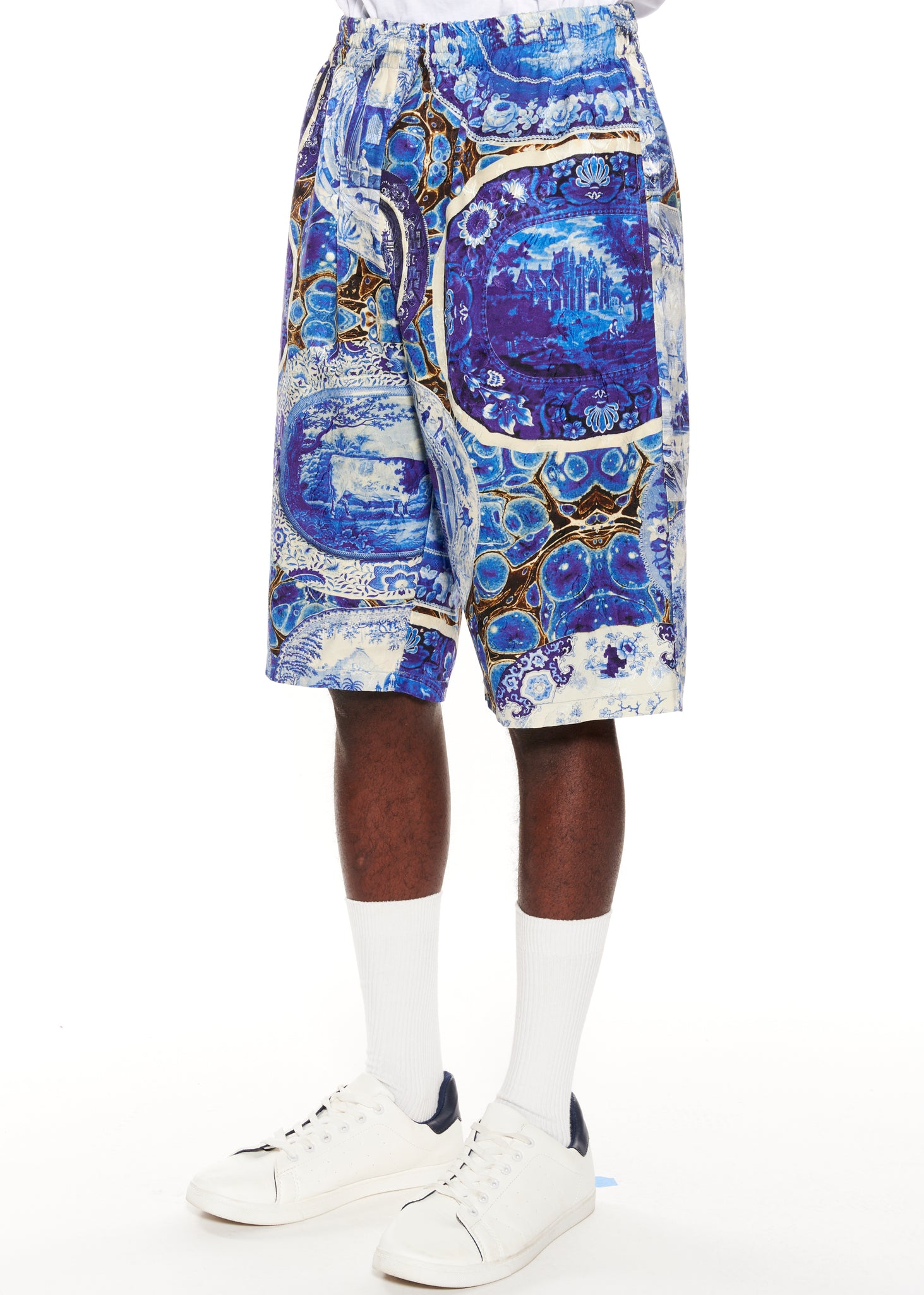"""Plates and Platters"" Drawstring Shorts - Men's Bottoms - Libertine"