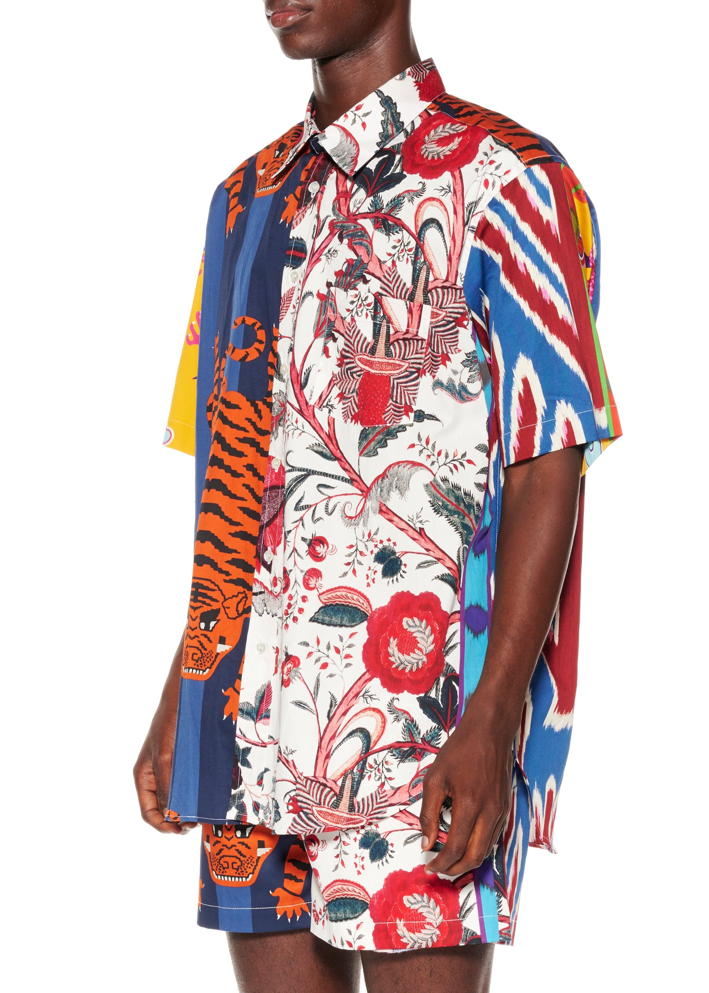 """Prince of Chintz"" Short Sleeve Classic Shirt - Men's Tops - Libertine"