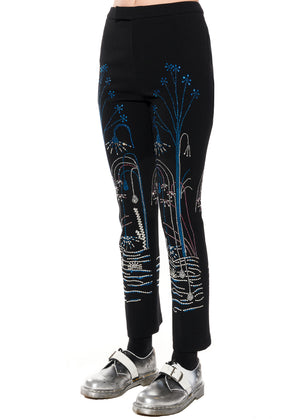"""PARIS FOUNTAIN"" NARROW PANTS - Women's Bottoms - Libertine"