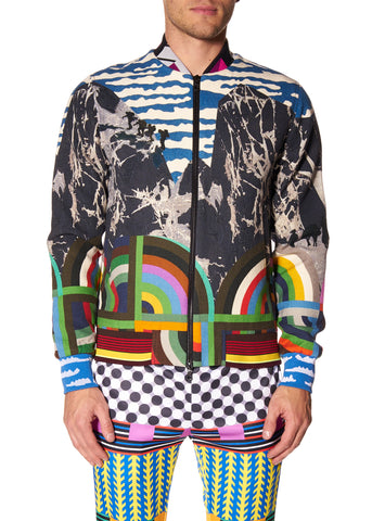 SKI MOUNTAIN PRINT BOMBER JACKET - Men's Jackets & Coats - Libertine