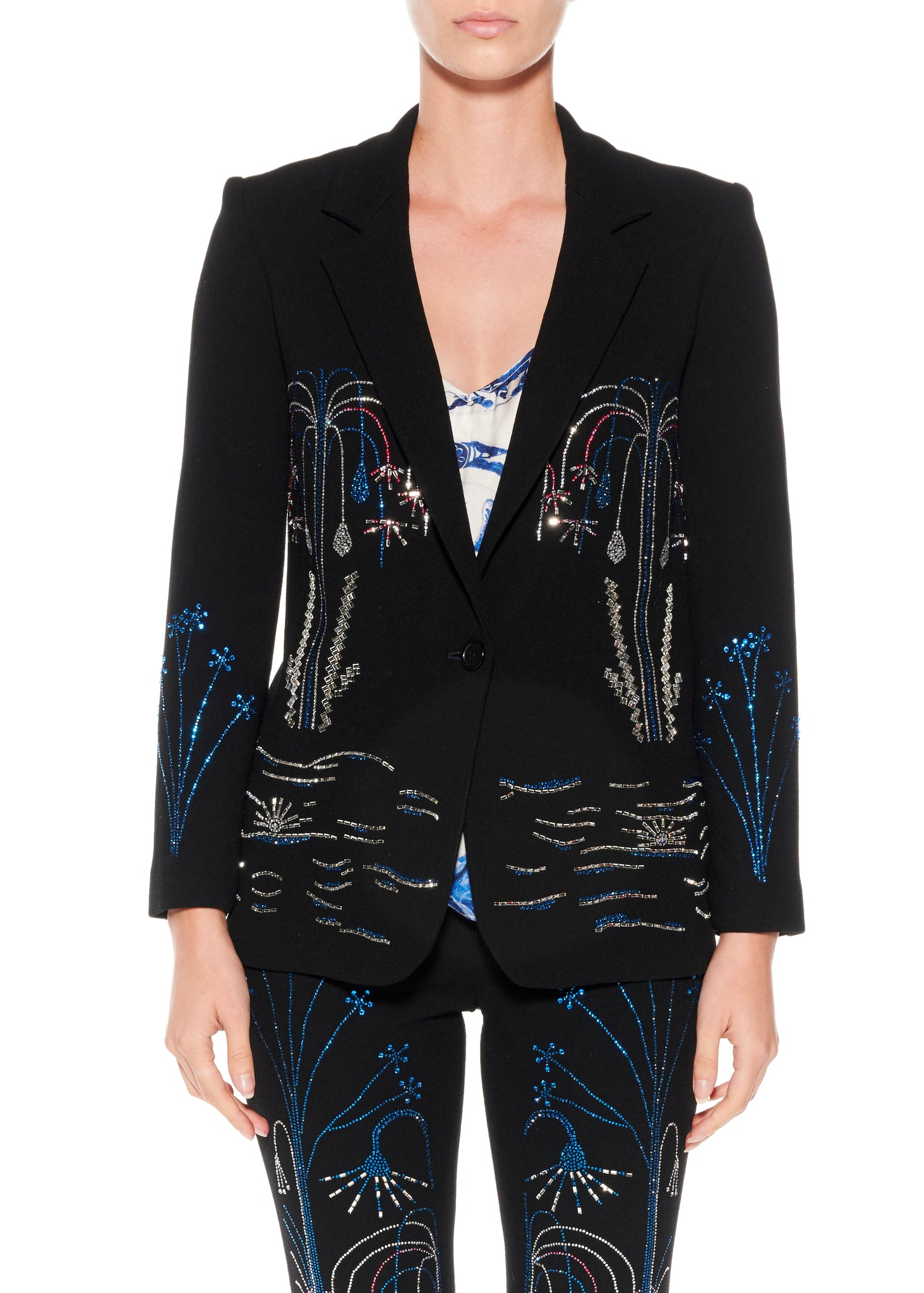 """PARIS FOUNTAIN"" LONG BLAZER - Women's Jackets & Coats - Libertine"