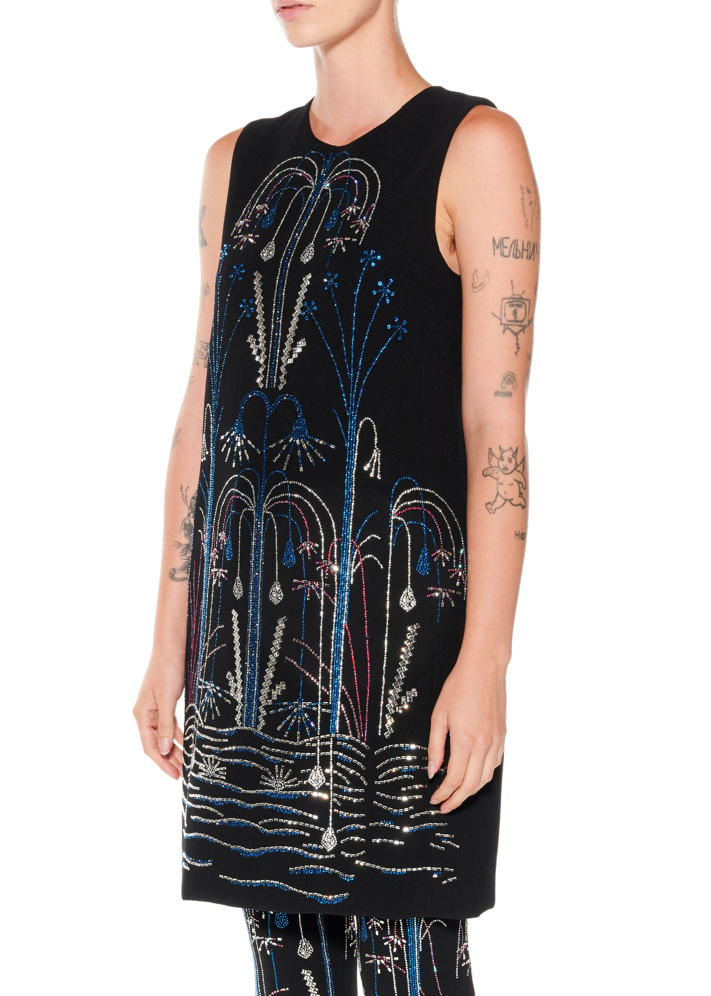 """Paris Fountain"" Shift Dress - Women's Dresses - Libertine"