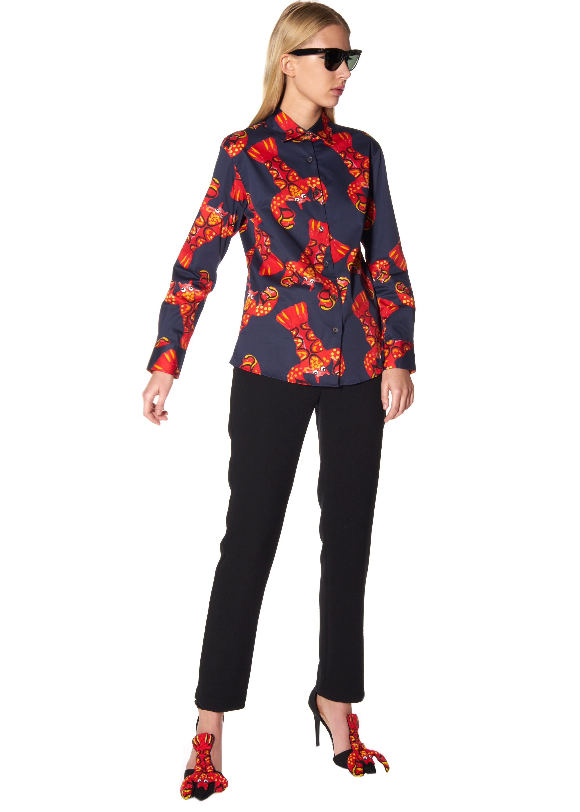 """ROCK LOBSTER"" CLASSIC SHIRT - Women's Tops - Libertine"