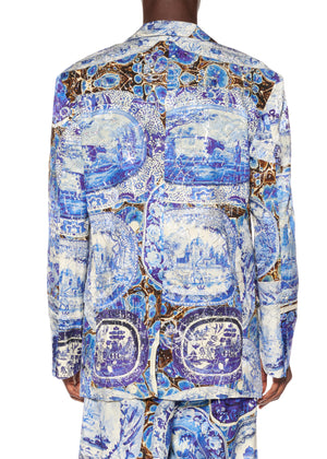 """Plates and Platters"" Suit Jacket With Crystals - Men's Jackets & Coats - Libertine"