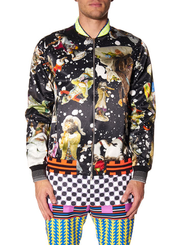 SPACE MONKEYS PRINT BOMBER JACKET - Men's Jackets & Coats - Libertine