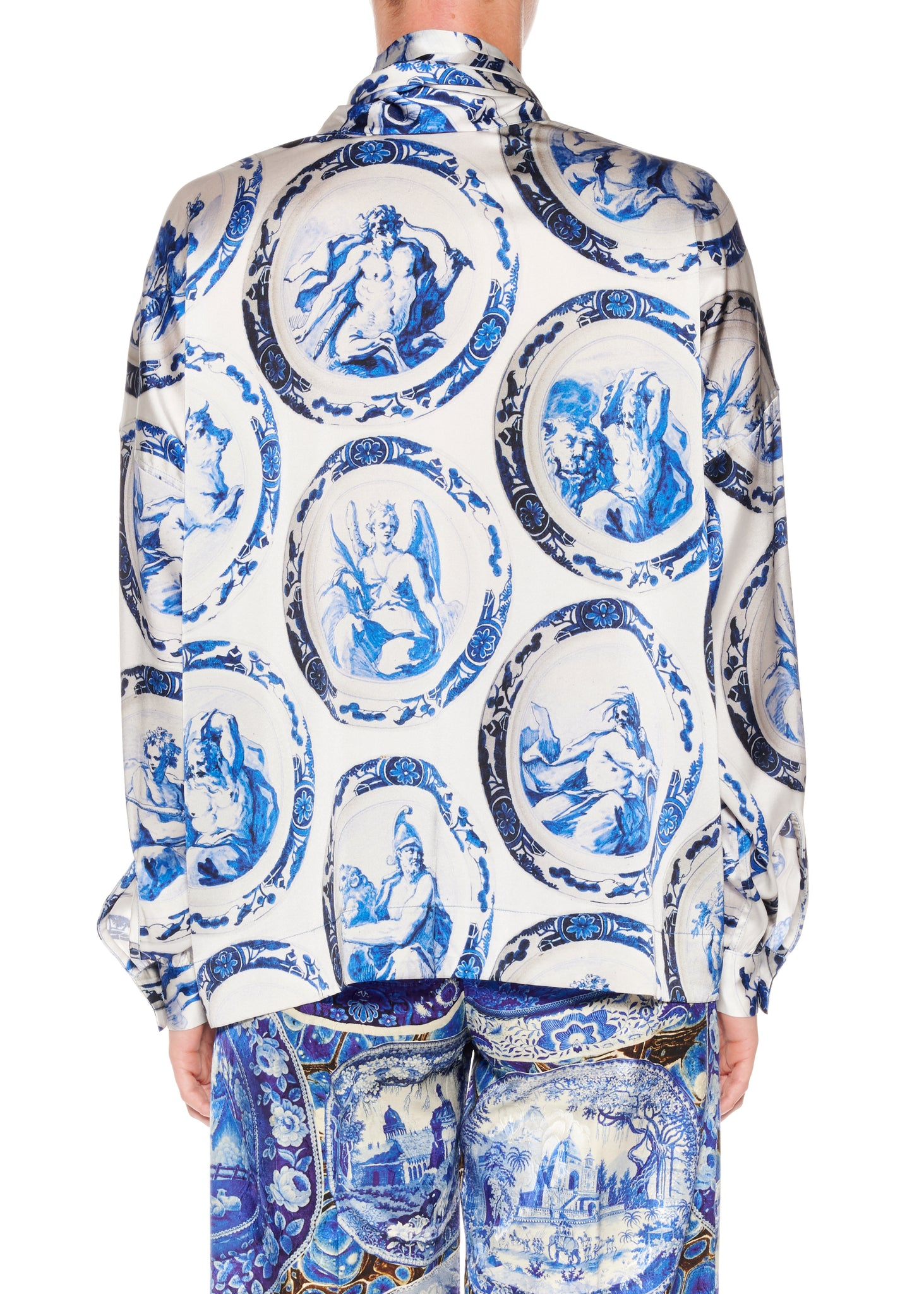 ''Zodiac'' Tie Blouse - Women's Tops - Libertine