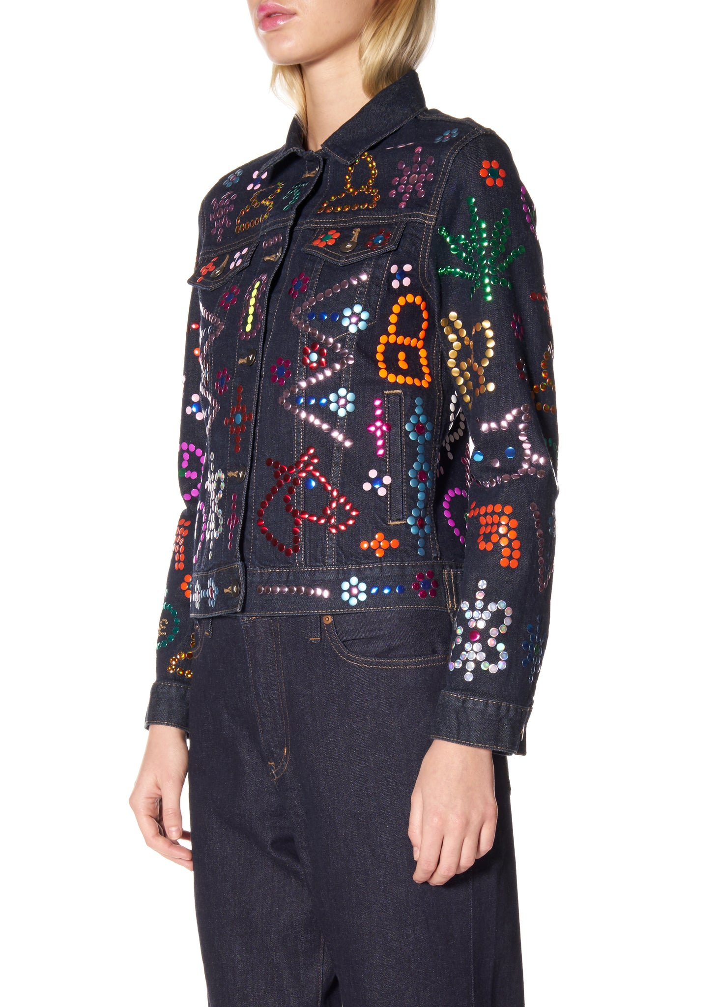 """SYMBOLS"" DENIM JACKET - Women's Jackets & Coats - Libertine"