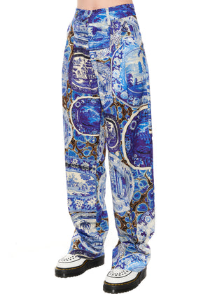 """Plates and Platters"" Pleated Pants - Women's Bottoms - Libertine"