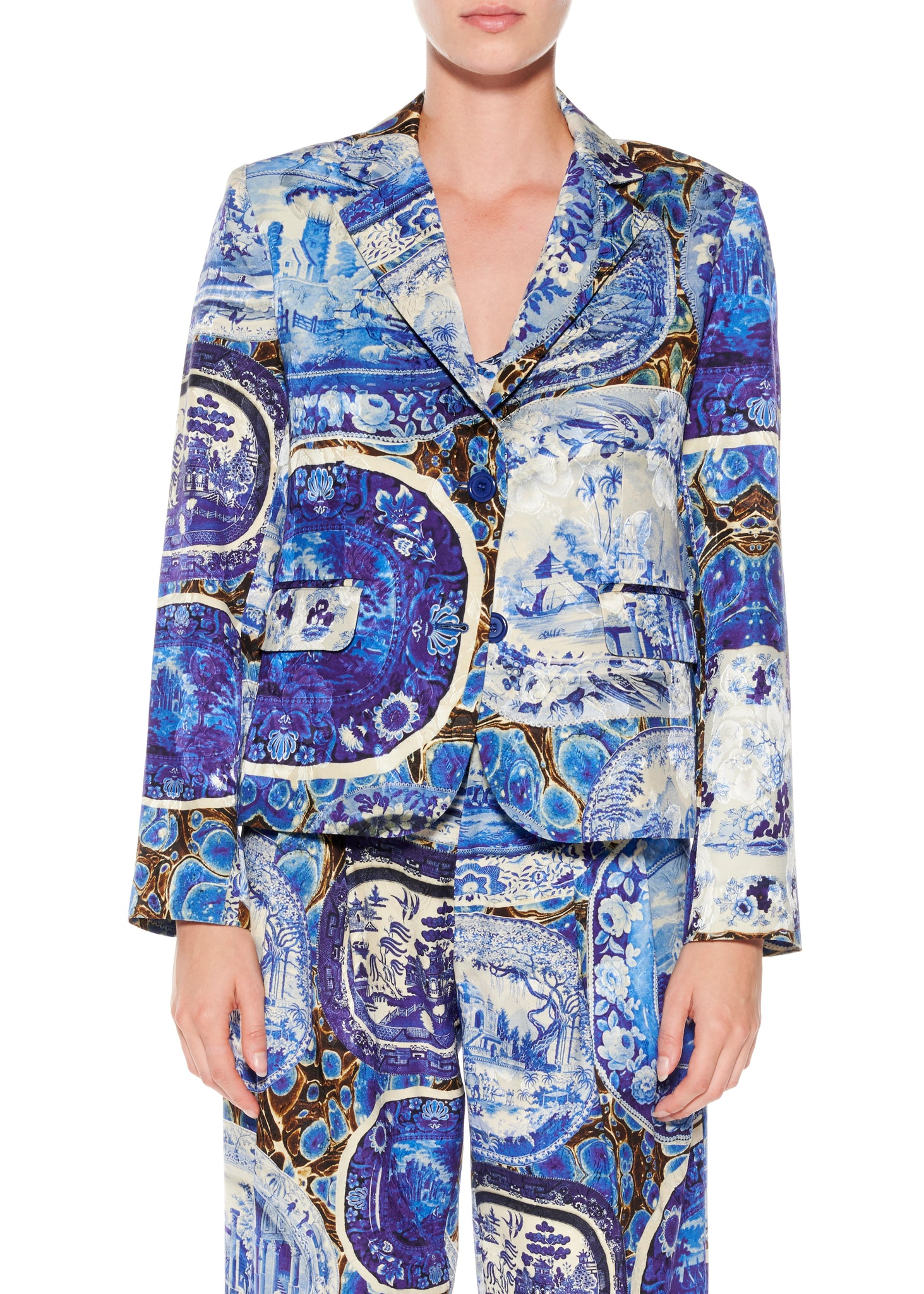 """Plates and Platters"" Long Sleeve Blazer - Women's Jackets & Coats - Libertine"
