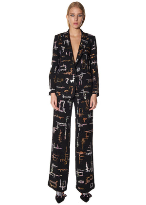 """SHANGHAI GEOMETRIC"" WIDE LEG PANTS - Women's Bottoms - Libertine"