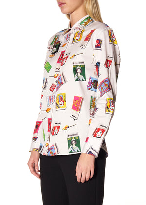 """MATCHBOOK MADNESS"" CLASSIC SHIRT WITH PATCH - Women's Tops - Libertine"