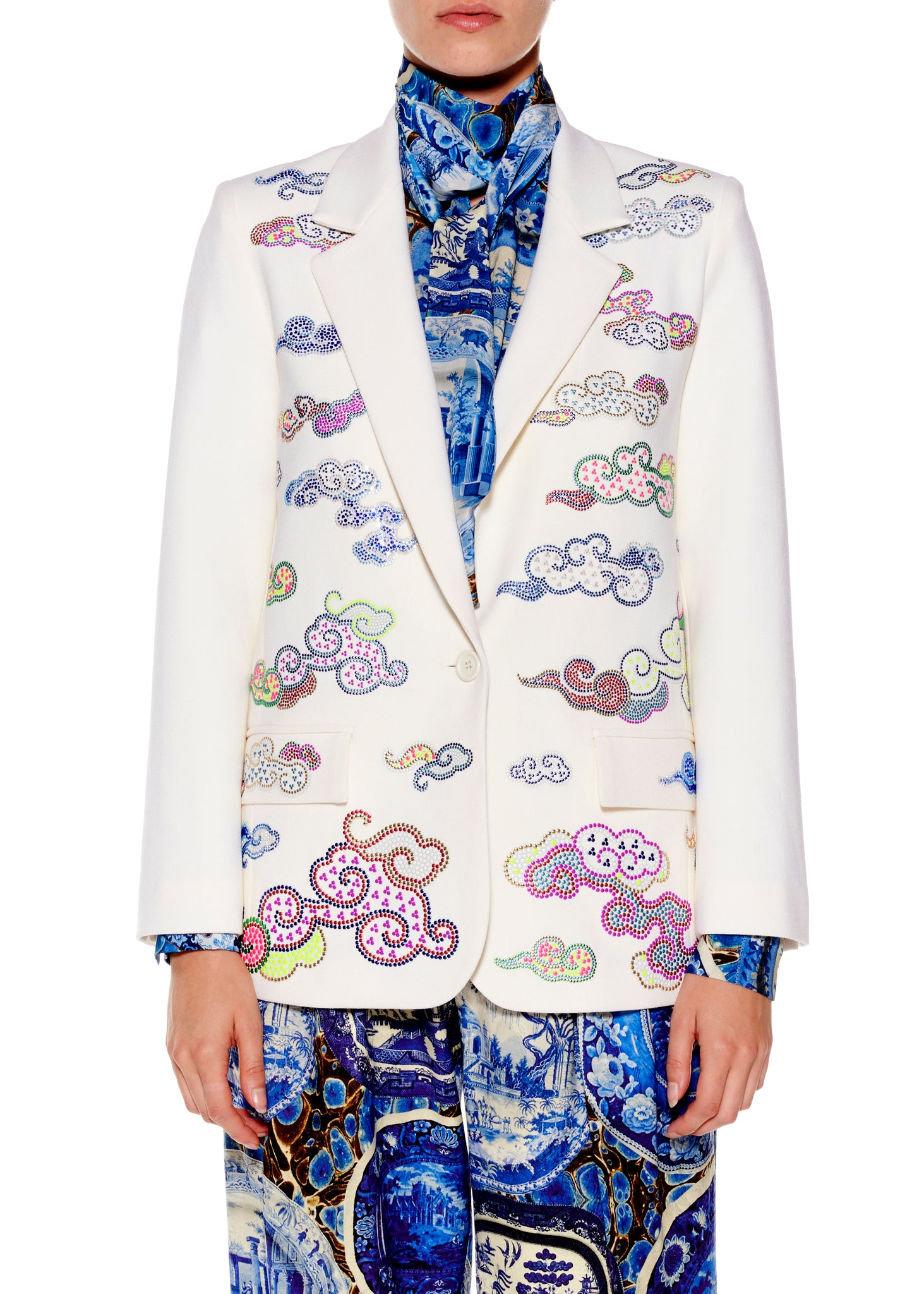 """CLOUDS"" LONG BLAZER - Women's Jackets & Coats - Libertine"