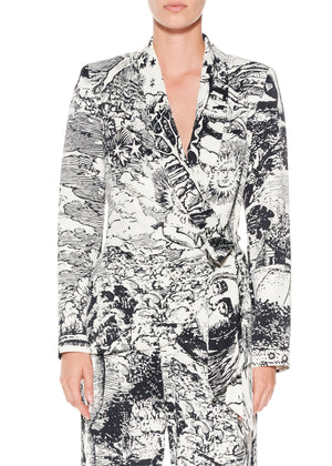 """Modern Toile"" Wrap Jacket - Women's Jackets & Coats - Libertine"