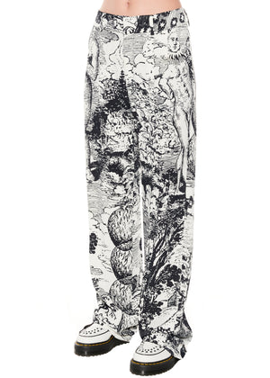 """Modern Toile"" Pleated Pants - Women's Bottoms - Libertine"