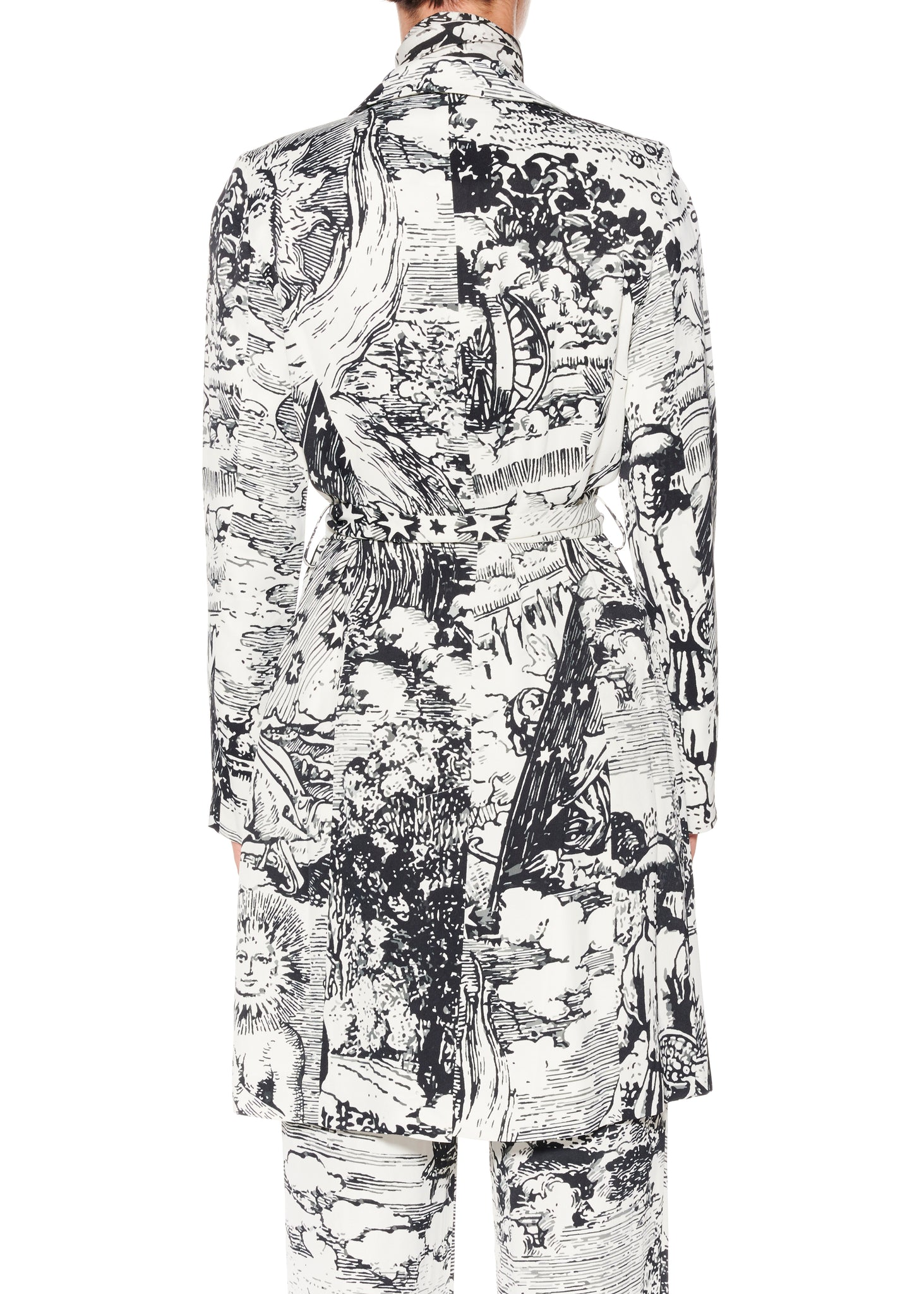 """Modern Toile"" Relaxed Trench Coat - Women's Jackets & Coats - Libertine"