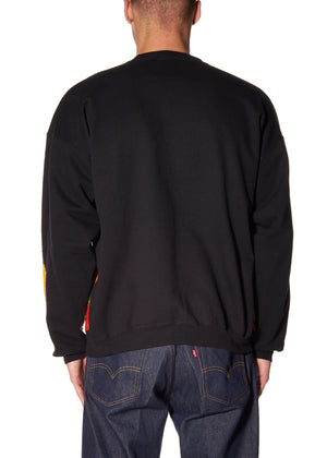 LIBERTINE FLAMES CREWNECK SWEATSHIRT - Men's Tops - Libertine