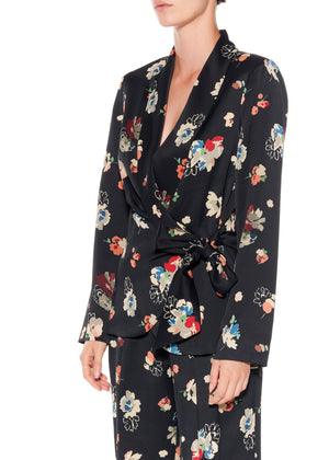 """Nina Simone"" Floral Wrap Jacket - Women's Jackets & Coats - Libertine"