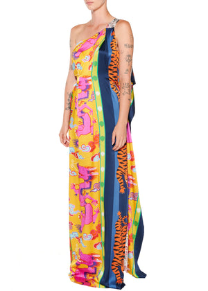 """Prince of Chintz"" One Shoulder Gown - Women's Dresses - Libertine"