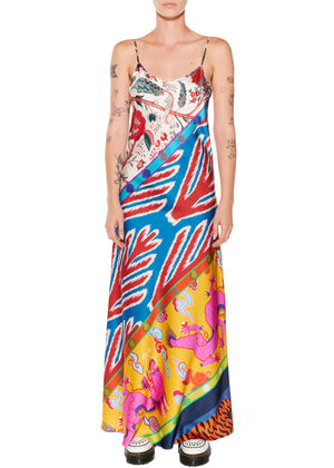 'Prince of Chintz' Long Slip Dress - Women's Dresses - Libertine