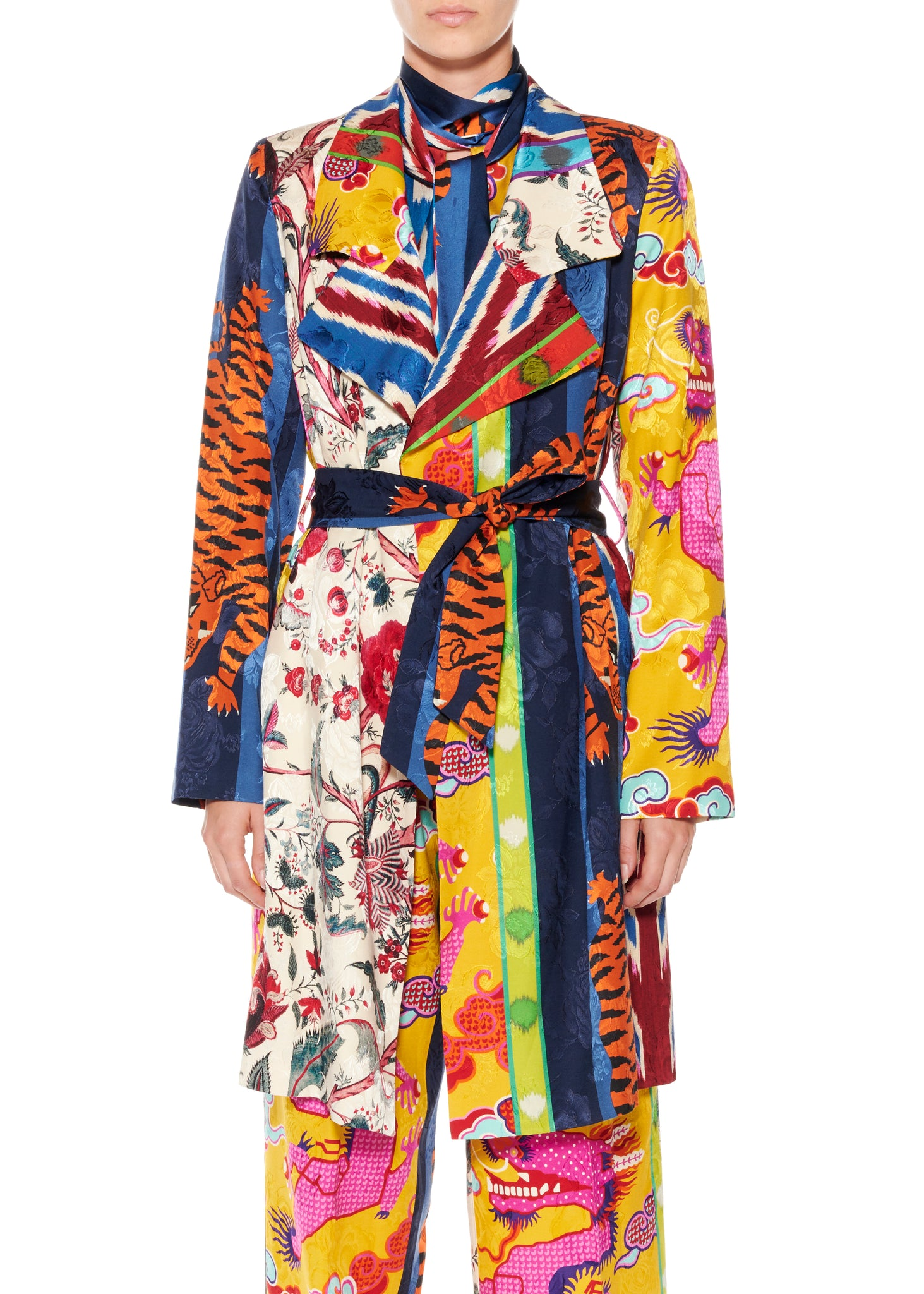 """Prince of Chintz"" Relaxed Trench Coat - Women's Jackets & Coats - Libertine"