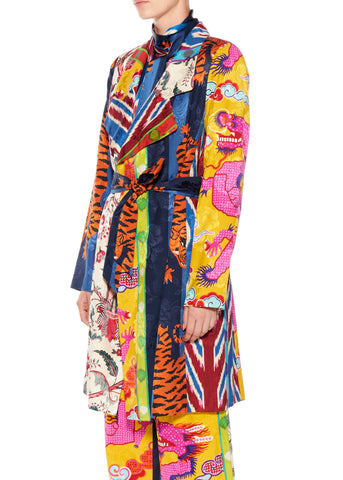 """HAMISH FLORAL"" TRENCH COAT - Women's Jackets & Coats - Libertine"