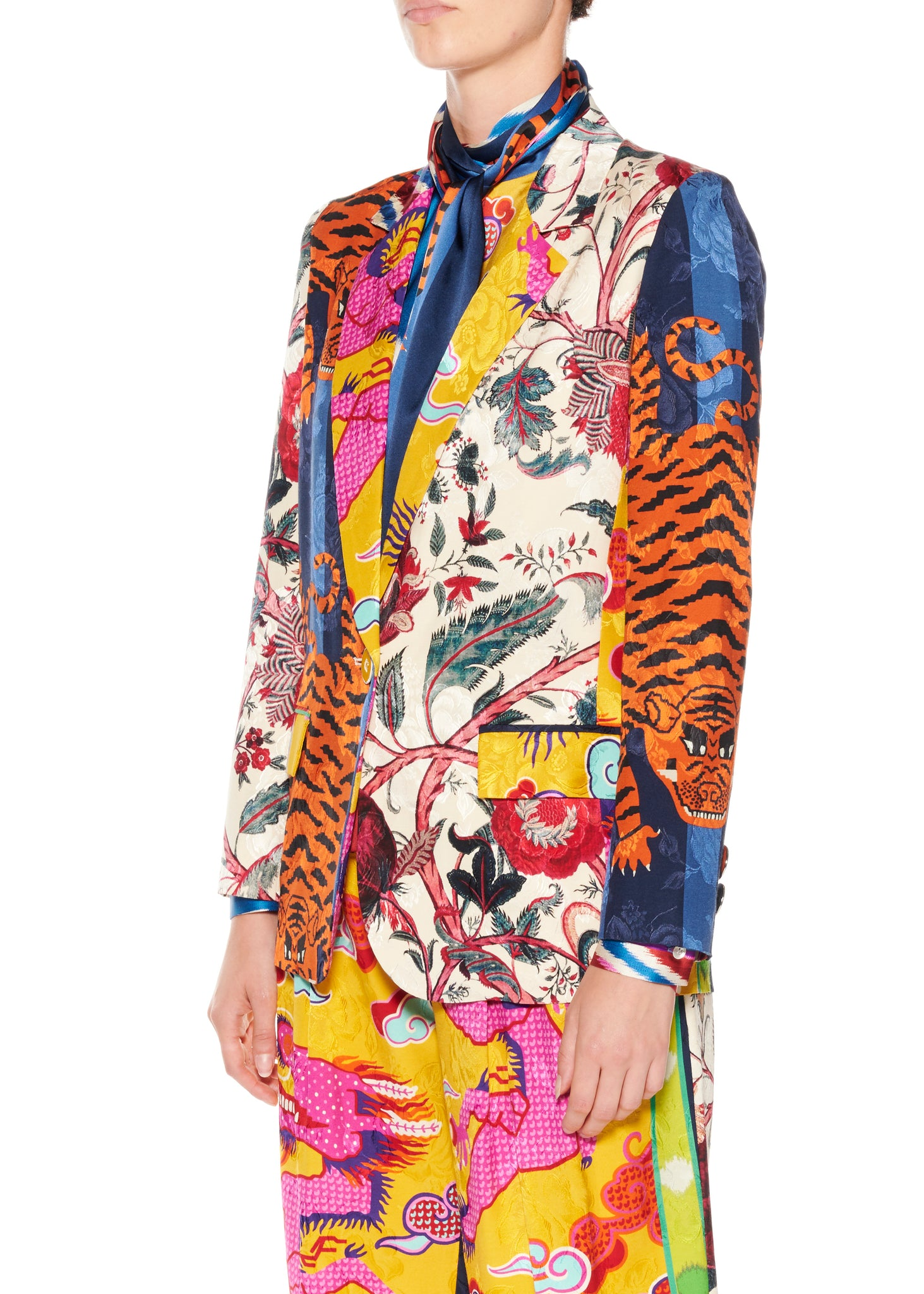 """Prince of Chintz"" Long Blazer - Women's Jackets & Coats - Libertine"