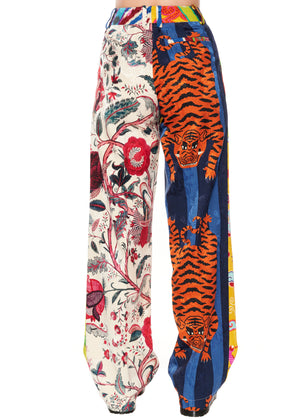 """Prince of Chintz"" Pleated Pants - Women's Bottoms - Libertine"
