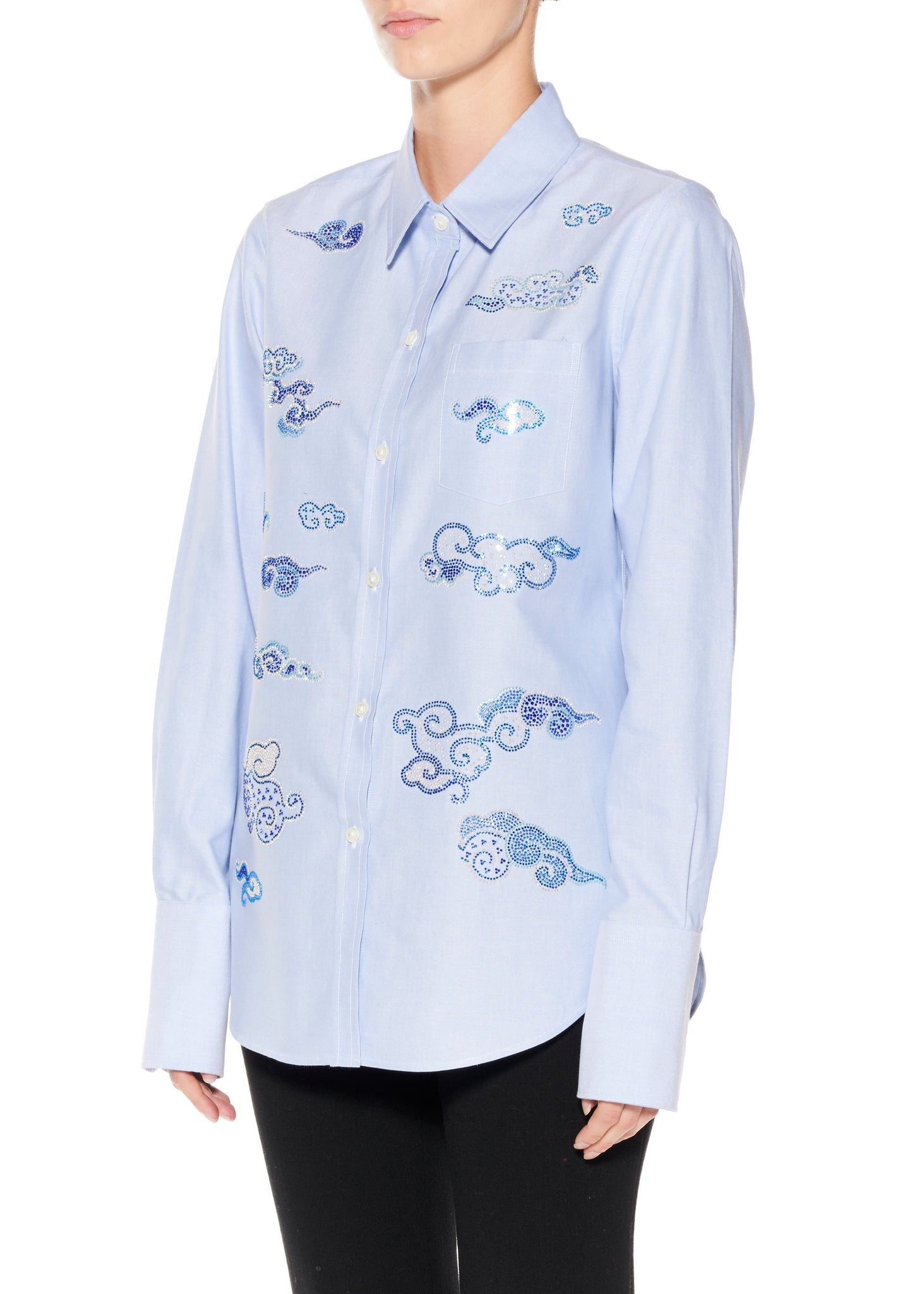 """Clouds"" Classic Shirt - Women's Tops - Libertine"
