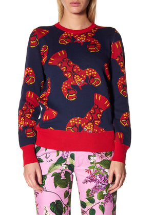 """ROCK LOBSTER"" CREWNECK CASHMERE PULLOVER - Women's Knits - Libertine"