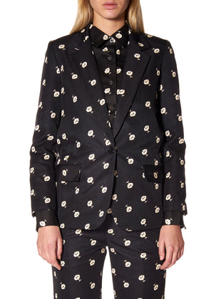 """VICTORIAN MOURNING FLORAL"" LONG BLAZER - Women's Jackets & Coats - Libertine"