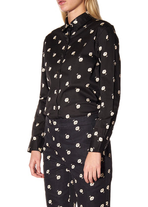 """VICTORIAN MOURNING FLORAL"" CLASSIC SHIRT - Women's Tops - Libertine"