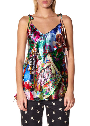 'TAPESTRY' WRAP TANK TOP - Women's Tops - Libertine