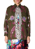 FLOWERS AND SEQUINS ARMY JACKET - Women's Jackets & Coats - Libertine