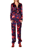 """PURPLE FLORAL"" JUMPSUIT - Women's Bottoms - Libertine"
