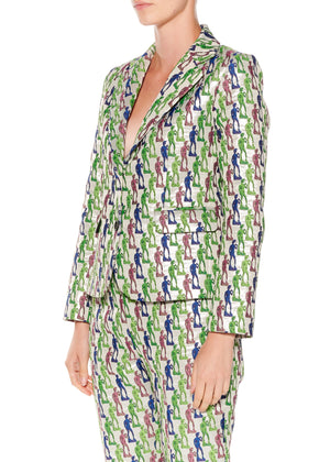 """Disco David"" Long Sleeve Blazer - Women's Jackets & Coats - Libertine"