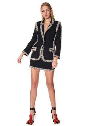BEADED SEAMS LONG BLAZER - Women's Jackets & Coats - Libertine