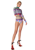 """GEOMETRIC"" BODYSUIT - Swimwear - Libertine"