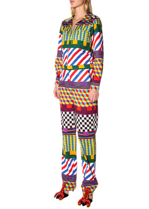 """GEOMETRIC"" JUMPSUIT - Women's Bottoms - Libertine"