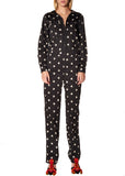 """VICTORIAN MOURNING FLORAL"" JUMPSUIT - Women's Bottoms - Libertine"