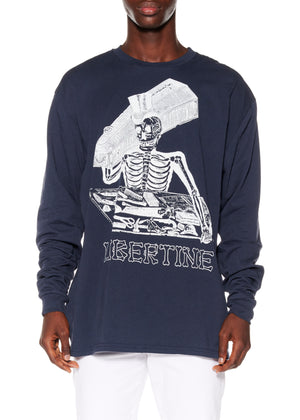 """LIBERTINE SKELETON"" LONG SLEEVE T-SHIRT - Men's Tops - Libertine"