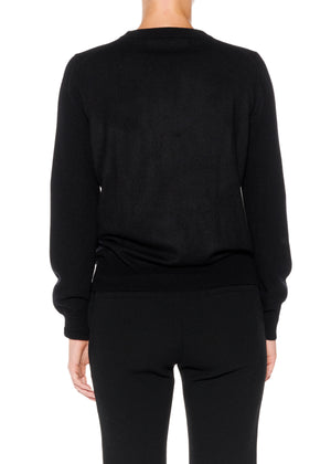 """WHO'S THAT GIRL"" CREWNECK CASHMERE PULLOVER - Women's Knits - Libertine"