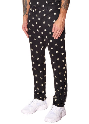 VICTORIAN MOURNING FLORAL PRINT TROUSER - Men's Bottom's - Libertine
