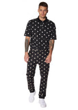 """VICTORIAN MOURNING FLORAL"" PRINT POLO SHIRT - Men's Tops - Libertine"