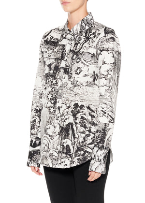 """Modern Toile"" Classic Shirt - Women's Tops - Libertine"