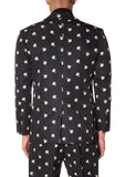 VICTORIAN MOURNING FLORAL PRINT SUIT JACKET - Men's Jackets & Coats - Libertine